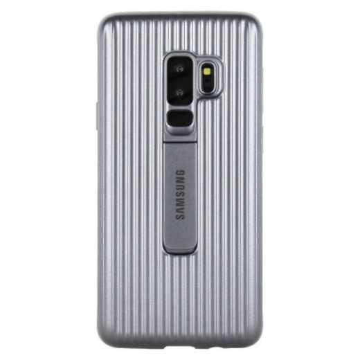 Samsung Protective Standing Cover für Galaxy S9+ Schutzhülle silber