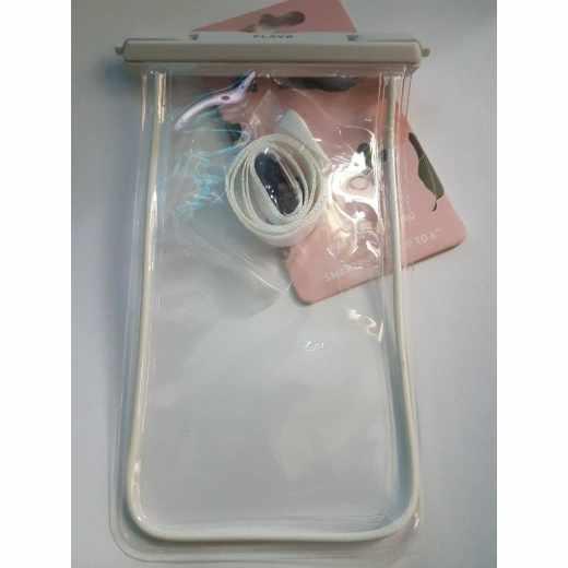 FLAVR Waterproof Tasche Handytasche Universal Unterwasserhülle weiß - neu