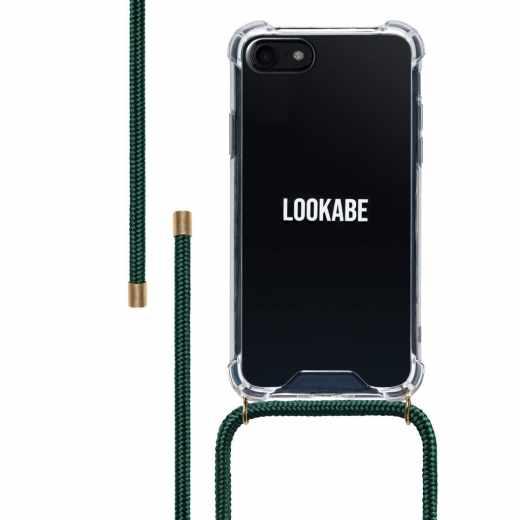 LOOKABE Necklace Case Tasche für iPhone 8/7 Handykette mit Handyhülle grün