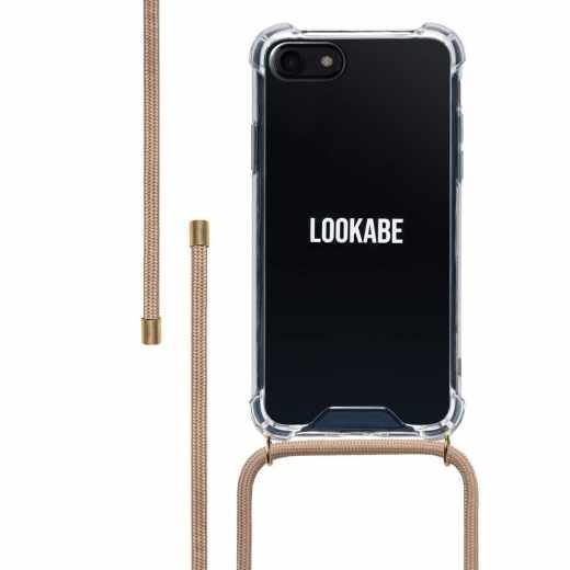 LOOKABE Necklace Case Tasche für iPhone 8/7 Handykette mit Handyhülle beige - neu