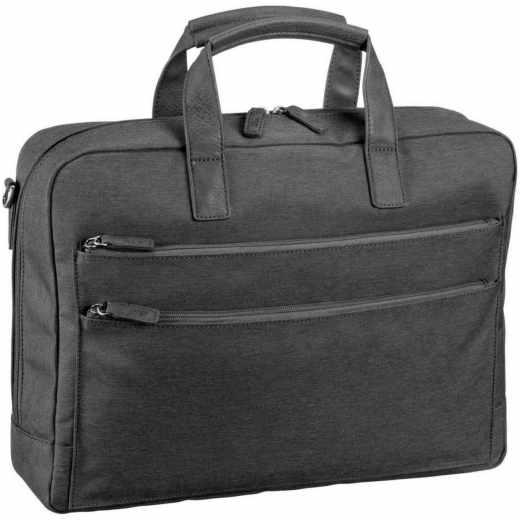 Jost Bergen Business Bag Aktentasche 40 cm mit Laptopfach dunkelgrau