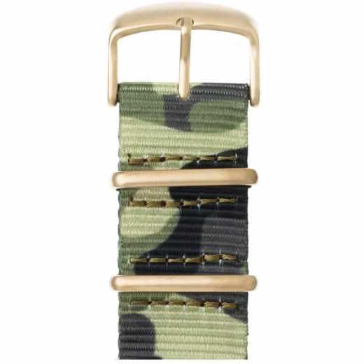 Roobaya Nato Ersatzarmband für Apple Watch 42 mm camouflage gold - neu