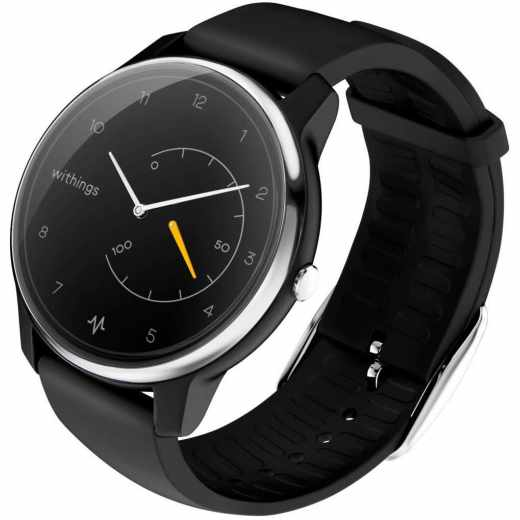 Withings Move ECG Activity Watch Tracker Fitnessuhr EKG Funktion schwarz - sehr gut
