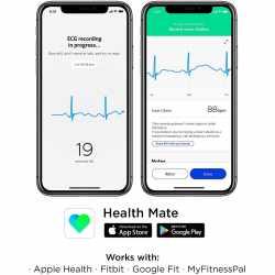 Withings Move ECG Activity Watch Tracker Fitnessuhr EKG Funktion schwarz - sehr gut