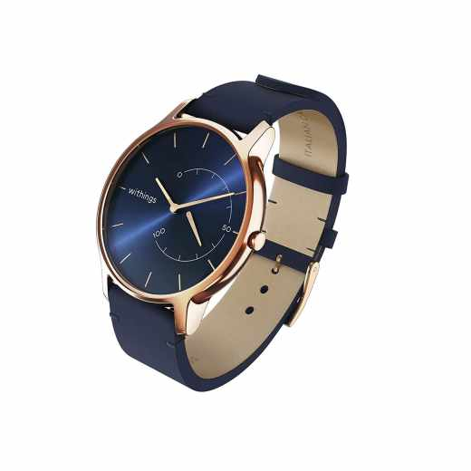 Withings Move Timeless Chic Activity Tracking Watch Fitnessuhr blau rosegold - wie neu