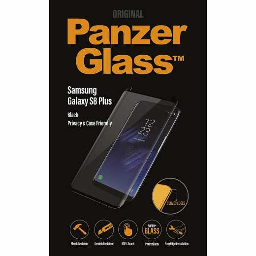 PanzerGlass Displayschutz für Samsung Galaxy S8Plus Case Friendly Glas schwarz - neu