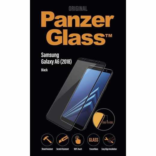 PanzerGlass Displayschutz für Galaxy A6 2018Schutz Glas schwarz - neu