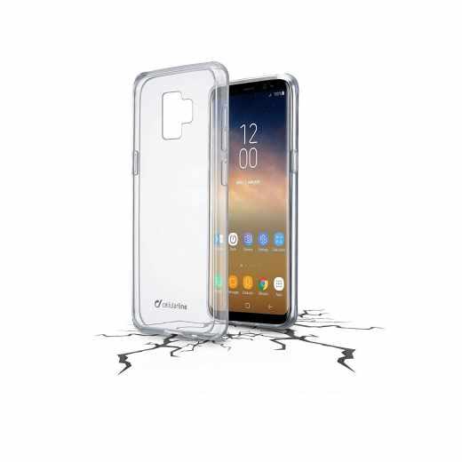 Cellularline Clear Duo Schutzhülle Cover Case für Galaxy S9+ transparent - neu