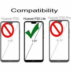 StilGut Berlin Handy Schutzhülle Leder  für Huawei P20 Lite Book Case schwarz - neu