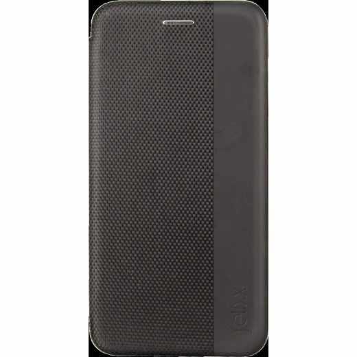 felixx Book Case LYON Schutzhülle für Galaxy A6+ mit Innenfach schwarz - wie neu