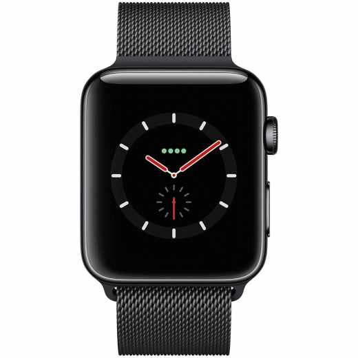 Apple Watch Series 3 GPS LTE Cellular Smartwatch 42mm Milanaise schwarz- wie neu