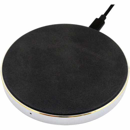 Networx Wireless Charger 2.0 Qi Ladepad mit Lederbezug Induktionsladegerät -  neu