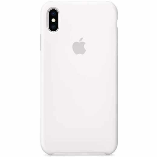 Apple Schutzhülle für iPhone XS Max Silikon Case weiß - neu