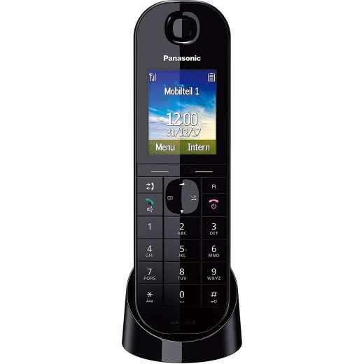 Panasonic iP Telefon Schnurlostelefon kompatibel mit AVM Fritz!Box schwarz - sehr gut