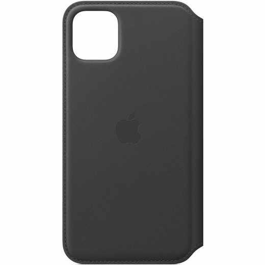 Apple Leder Folio Case für iPhone 11 ProMax Schutzhülle schwarz - wie neu