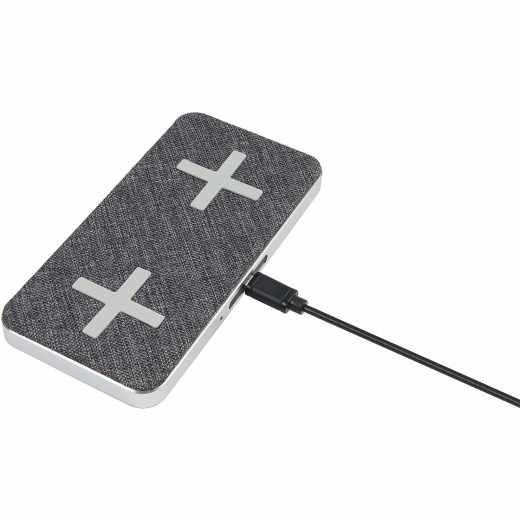 Xtorm Wireless Dual Charging Pad QI Induktions Ladestation magic grau - sehr gut