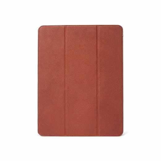 Decoded Slim Cover Leder Schutzhülle für iPad Pro12,9 Zoll (2018) braun