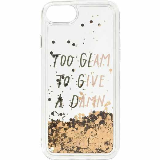 LAUT Pop Glitter Glam für iPhone 8 Handyhülle Schutzhülle gold transparent - neu