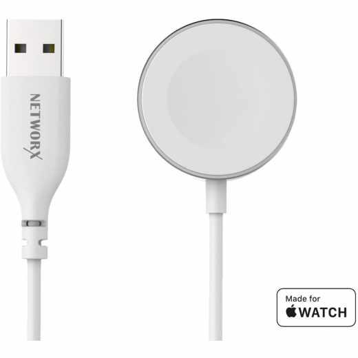 Networx Ladekabel 1m für Apple Watch Konnektor magnetisch silber - neu