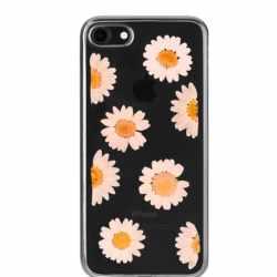 FLAVR iPlate Real Flower Daisy Handyhülle für iPhone 6 6s 7 transparent - neu