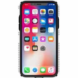 Speck Presidio Grip Schutzhülle für iPhone X Handyhülle weiß