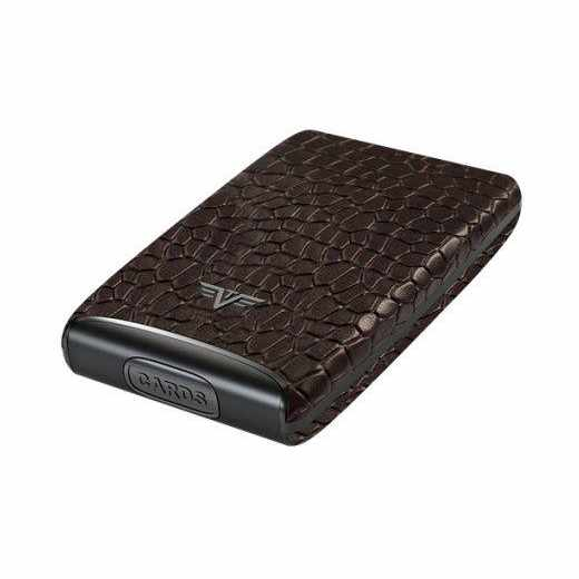 Tru Virtu Credit Card Etui FAN Kreditkartenetui RFID Croco Brown braun - neu