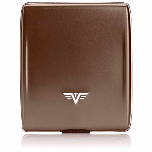Tru Virtu Wallet Money & Cards Brieftasche Portemonnaie RFID Coffee to Go braun- neu