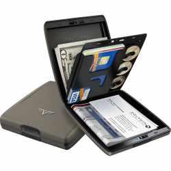 Tru Virtu Wallet Money & Cards Silk Geldbörse Kartenetui RFID Scanning  grau - neu