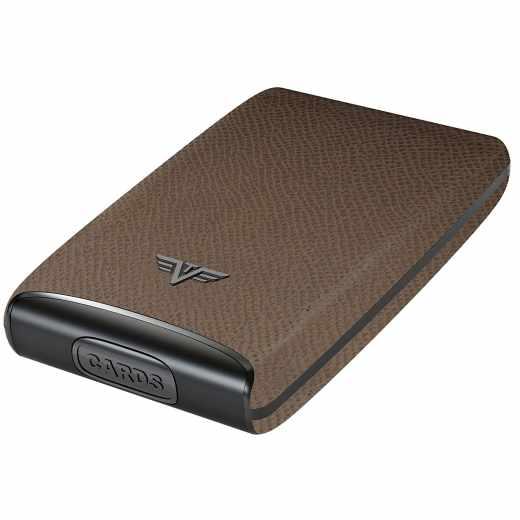 Tru Virtu Credit Card Case Fan Kreditkartenetui RFID Cashmere Smoke braun - neu