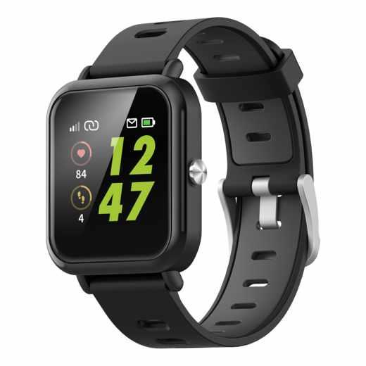 XQISIT Active Smartwatch Fitnesstracker Multifunktionsuhr schwarz