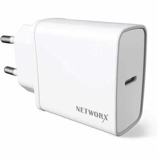 Networx Basic USB-C Netzteil 18W Adapter für Smartphones und Tablets weiß - wie neu
