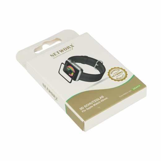 Networx 3D Schutzglas Apple Watch 42 mm - wie neu