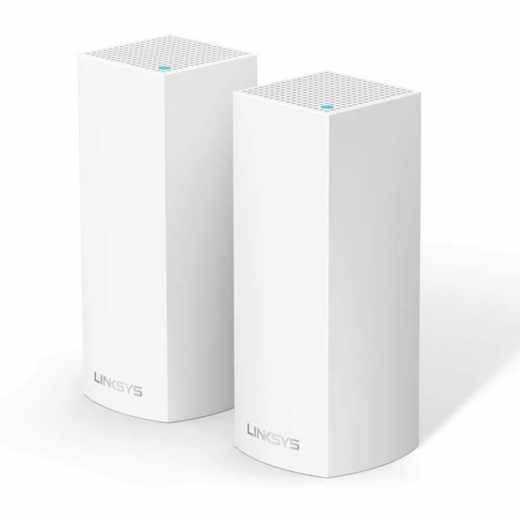 Linksys Velop TriBand System WiFi Modulsystem 2er Pack WLAN Router weiß - wie neu