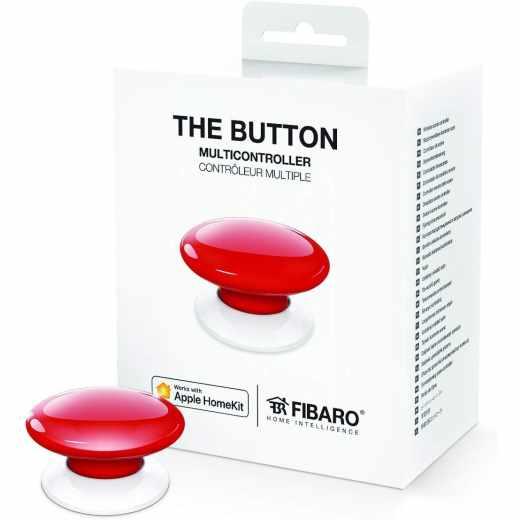 Fibaro The Button HomeKit Multicontroller Schalt Knopf rot - neu