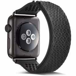Networx Silikon Armband für Apple Watch 44mm schwarz - neu