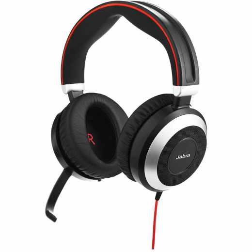 Jabra Evolve 80 MS Stereo USB-C NC Headset Kopfhörer OnEar schwarz - sehr gut