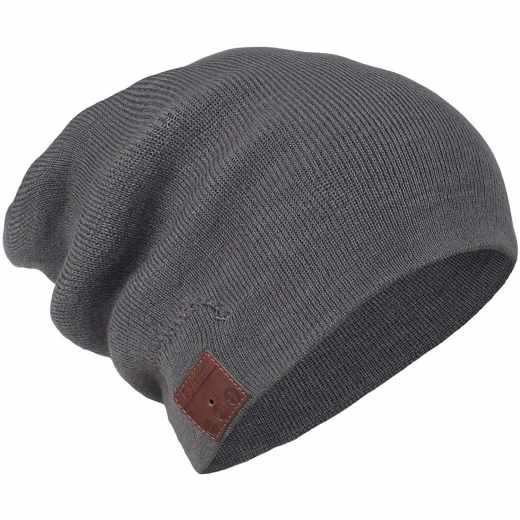 Networx Jersey Beanie Bluetooth Mütze grau - neu