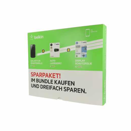 Belkin Samsung Galaxy S3 Aktionsbundle Set Schutzhülle Displayfolie KFZ-Lader - neu