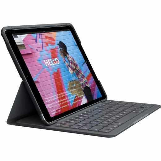 Logitech Slim Folio für iPad 7G 10,2 Zoll Tastatur-Case Qwertz graphite - wie neu