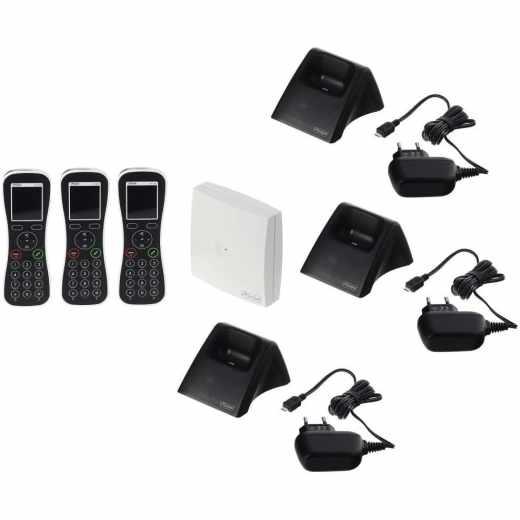 Auerswald COMfortel WS-400 IP Base Pack schnurlos Telefonanlage schwarz - wie neu