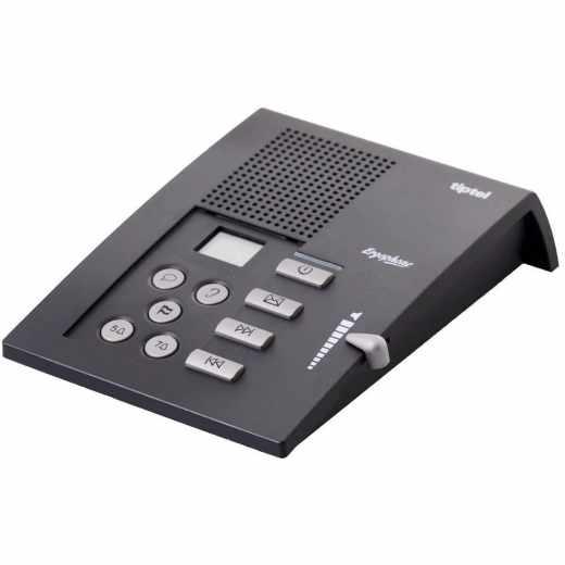 tiptel Ergophone 307 Anrufbeantworter 40 min Aufnahme schwarz - wie neu