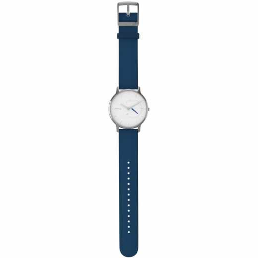 Withings Move Timeless Chic Fitnessuhr Armbanduhr Silikon blau silber - sehr gut