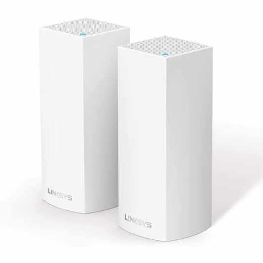 Linksys Velop Modular Wi-Fi System AC4400 - 2 Pack WLAN Router Extender weiß - neu