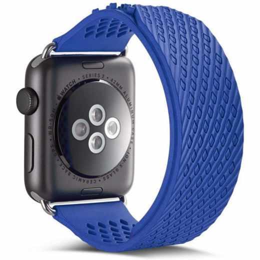 Networx Watch Armband für Apple Watch 38/40 mm Silikon Ersatzarmband blau
