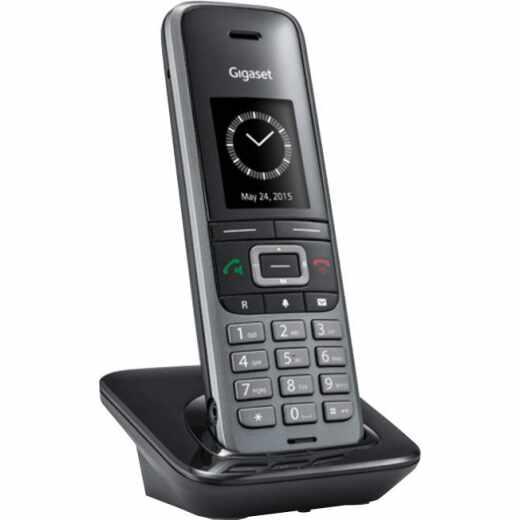 elmeg D111 DECT Mobilteil Festnetztelefon 1,8 Zoll Display silber - gut