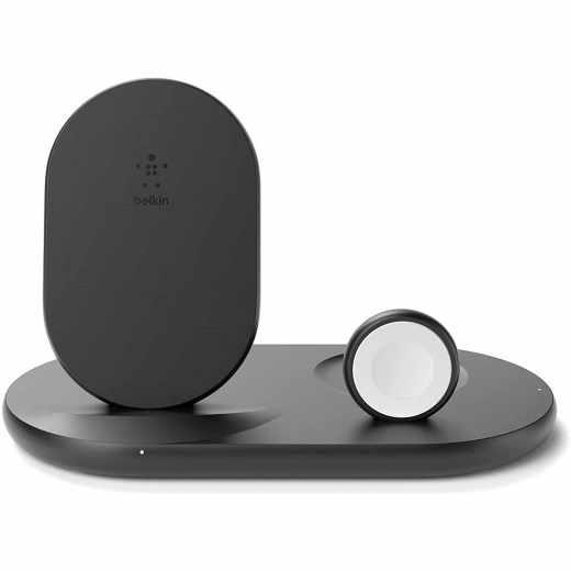 Belkin 3-in-1 Wireless Ladestation für Apple Watch und iPhone schwarz - wie neu