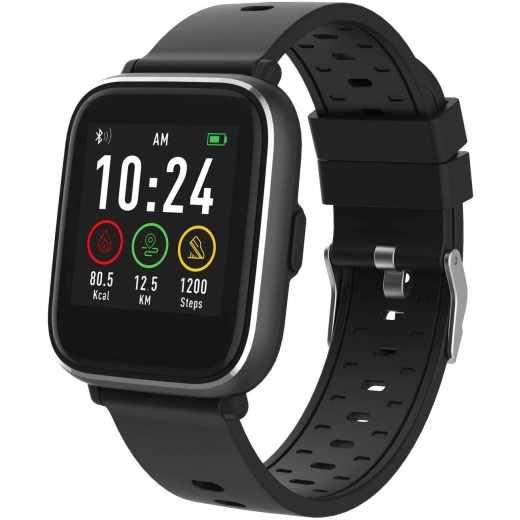 Denver Bluetooth Smartwatch SW-161 Fitnessuhr Fitnesstracker schwarz- wie neu