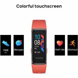 Huawei Band 4 Amber Sunrise Sport Band Fitnessuhr Tracker rot - wie neu