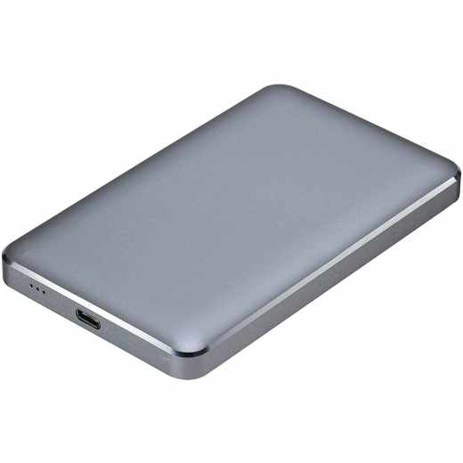 Networx Festplattengehäuse für 6,35 cm 2,5 Zoll SATA USB-C/USB 3.1 grau
