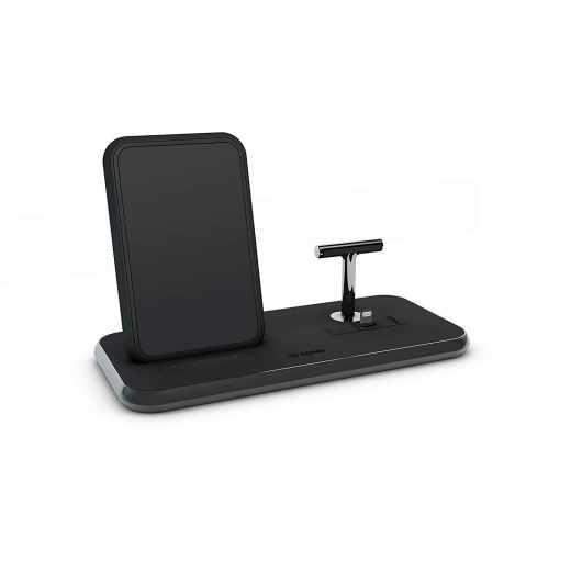 Zens Aluminium Stand + Dock Induktions-Ladegerät 2000 mA Apple schwarz - sehr gut